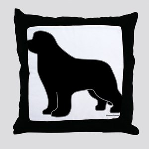 Newfoundland Silhouette Throw Pillow