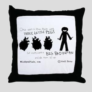 Wild Eyed Pixie - 3Pigs Throw Pillow