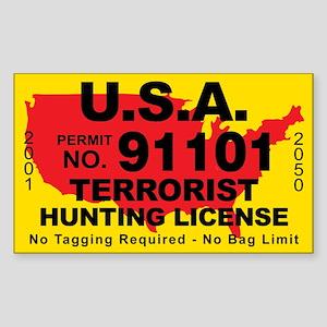 U.S.A. Terrorist Hunting License Sticker