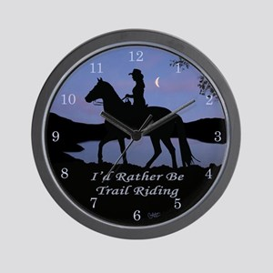 Moonlight Trail Riding Wall Clock