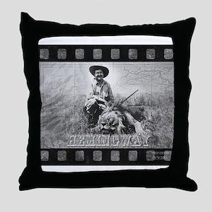 Hemingway in Africa Throw Pillow