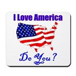 I Love America Mousepad