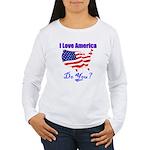 I Love America Women's Long Sleeve T-Shirt