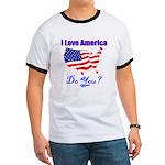 I Love America Ringer T