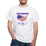I Love America White T-Shirt