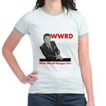 What Would Reagan Do? Jr. Ringer T-Shirt