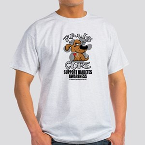 Diabetes Paws for the Cure Light T-Shirt