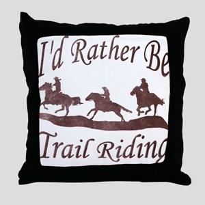 Trail Riders Throw Pillow