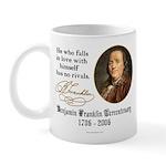 Ben Franklin Self-Love Quote Mug