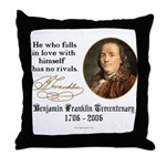 Ben Franklin Self-Love Quote Throw Pillow