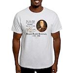 Ben Franklin Self-Love Quote Ash Grey T-Shirt
