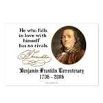 Ben Franklin Self-Love Quote Postcards (Package of