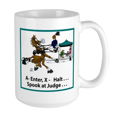 Dressage Horse Spook Large Mug