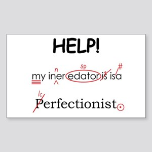 Perfectionist Editor Sticker (Rectangle)