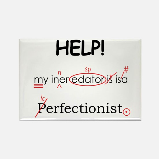 Perfectionist Editor Rectangle Magnet