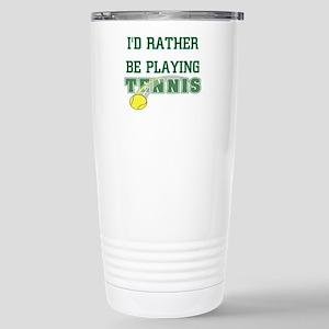 Playing Tennis Stainless Steel Travel Mug