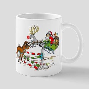 Santa Jumping Jump Mug