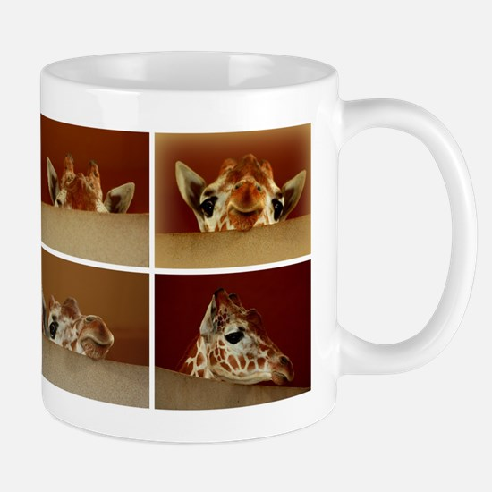 Giraffe Collage Mugs