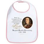 Benjamin Franklin Beer Quote Bib
