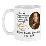 Benjamin Franklin Beer Quote Mug