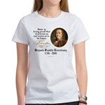 Benjamin Franklin Beer Quote Women's T-Shirt