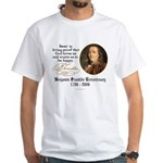 Benjamin Franklin Beer Quote White T-Shirt