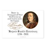 Benjamin Franklin Beer Quote Postcards (Package of