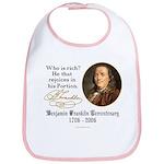 Ben Franklin on Riches Bib