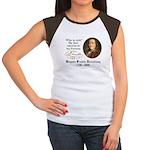 Ben Franklin on Riches Women's Cap Sleeve T-Shirt