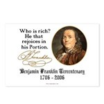 Ben Franklin on Riches Postcards (Package of 8)
