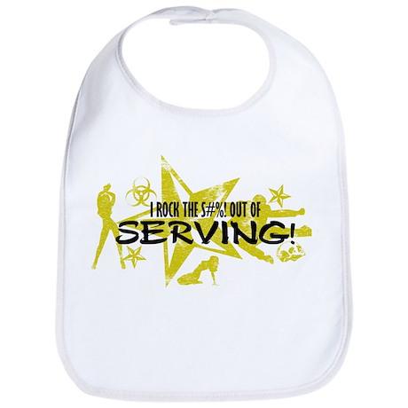 I ROCK THE S#%! - SERVING Bib