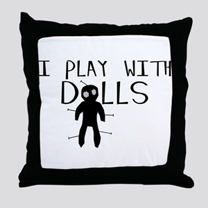 Play With Dolls Throw Pillow