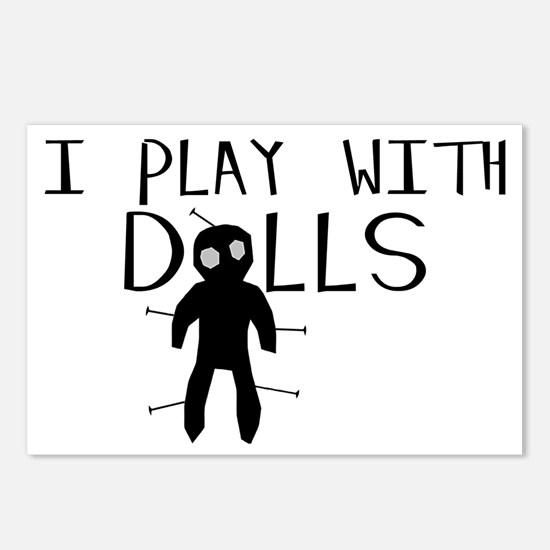 Play With Dolls Postcards (Package of 8)