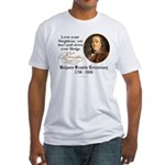 Ben Franklin Love your Neighbor Fitted T-Shirt