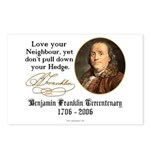 Ben Franklin Love your Neighbor Postcards (Package