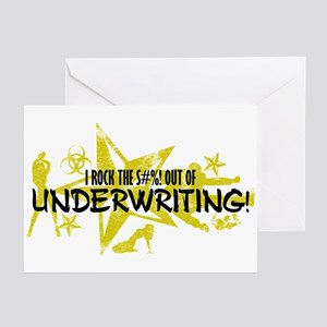 I ROCK THE S#%! - UNDERWRITING Greeting Cards (Pk