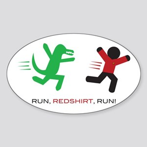 Run, Redshirt, Run! Sticker (Oval)
