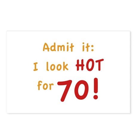 Sexy 70th Birthday Postcards (Package of 8)