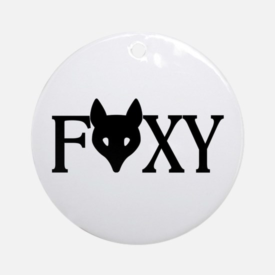 Foxy Ornament (Round)