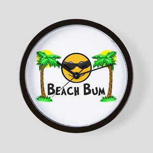 Beach Bum Wall Clock