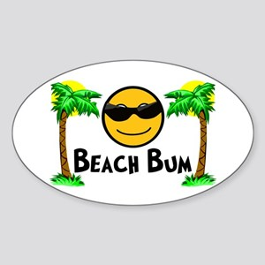 Beach Bum Sticker (Oval)