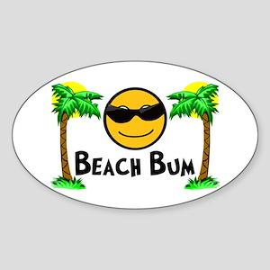 Beach Bum Sticker (Oval)