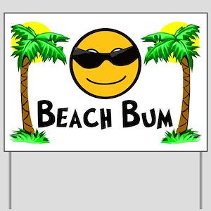 Beach Bum Yard Sign