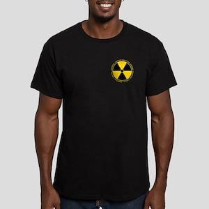 Radiation Warning Men's Fitted T-Shirt (dark)