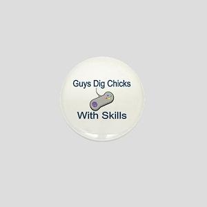 Chicks With Skills Mini Button
