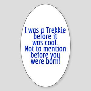 Star Trek Trekkie Cool Sticker (Oval)