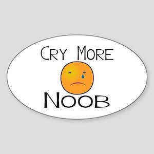 Cry Noob Sticker (Oval)