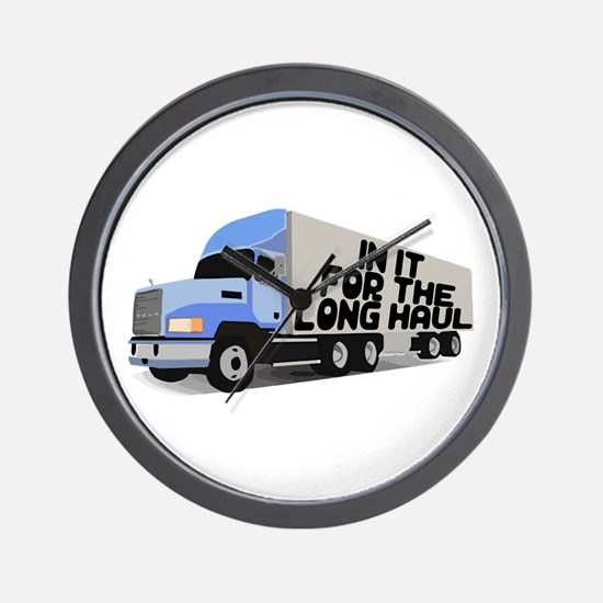 Long Haul Trucker Wall Clock