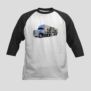 Long Haul Trucker Kids Baseball Jersey