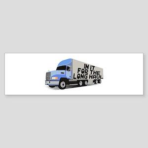 Long Haul Trucker Sticker (Bumper)